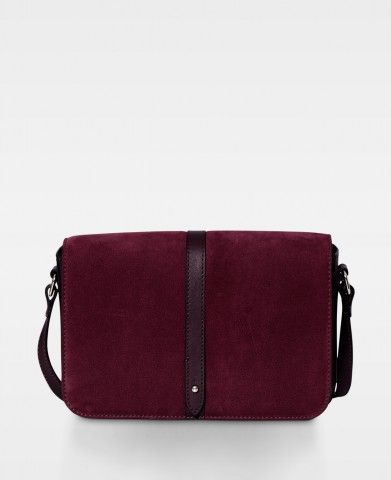 DECADENT Medium satchel bag Nubuck wine