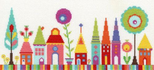 Funky Street cross stitch kit by Bothy Threads