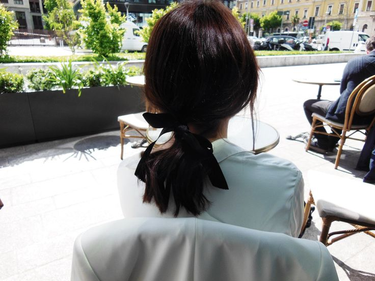 Hairstyle. Ribbons #StreetStyle