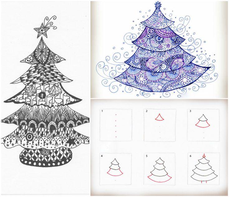 best 25 weihnachten zeichnen ideas on pinterest. Black Bedroom Furniture Sets. Home Design Ideas