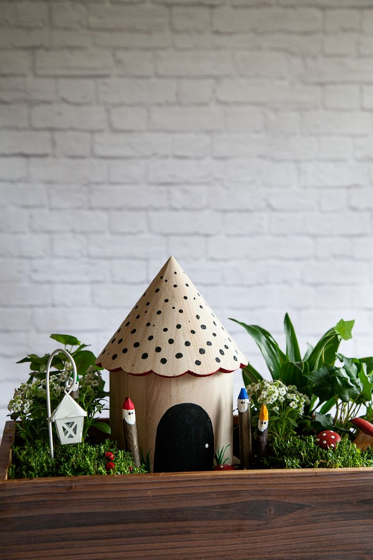 Gnome Gardens Are A Fun Trend That The Whole Family Can Participate In.  Create Your Own Gnomes With Some Sticks And Patio Paint.