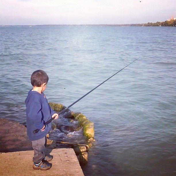 My #littleone Gergő and the first #fishing #Balaton #fishingrod