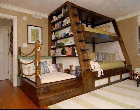 Awesome 4 person bunk bed. Three people would probably fit better though