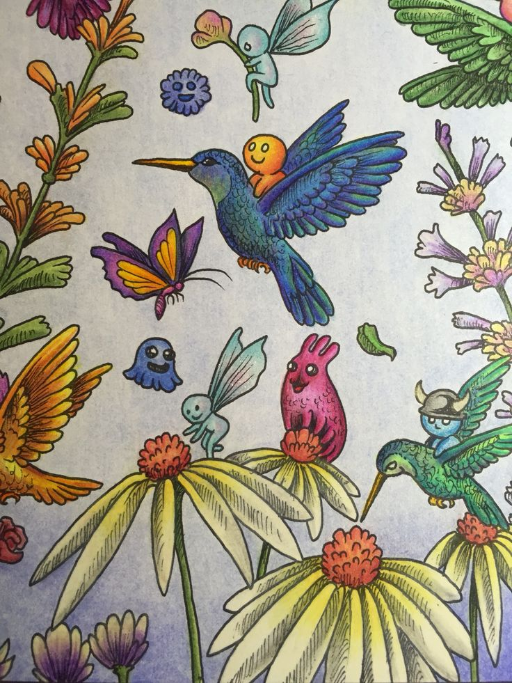183 Best Images About Completed Colouring Pages On