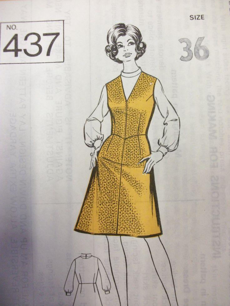 Vintage Dress Making Pattern Sunday People Pattern 437 by athenasvintage on Etsy