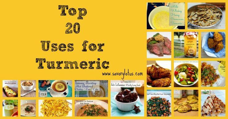 Top 20 Uses For Turmeric | savorylotus.com #turmeric