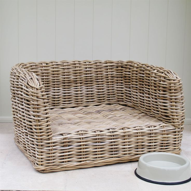 Wicker Dog Bed Basket Luxury | Bliss and Bloom Ltd