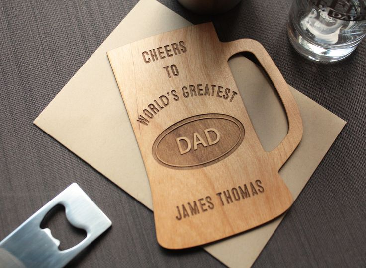 Father's Day Wood Card - Unique Father's Day Greeting Cards – Tri~Elegance