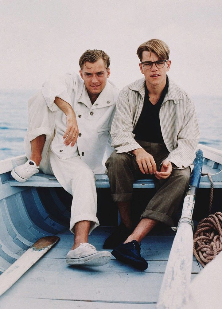 "Jude Law and Matt Damon for ""The Talented Mr. Ripley""                                                                                                                                                      More"