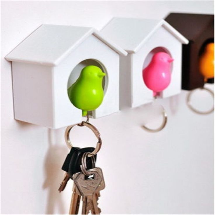 Cheap wall holder, Buy Quality wall hook keys holder directly from China wall key holder Suppliers: Likable Nest Sparrow House Key Chain Ring Wall Hook Door Holders Bird Whistle