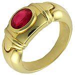 Anillo de oro 18K con rubí - 3000222