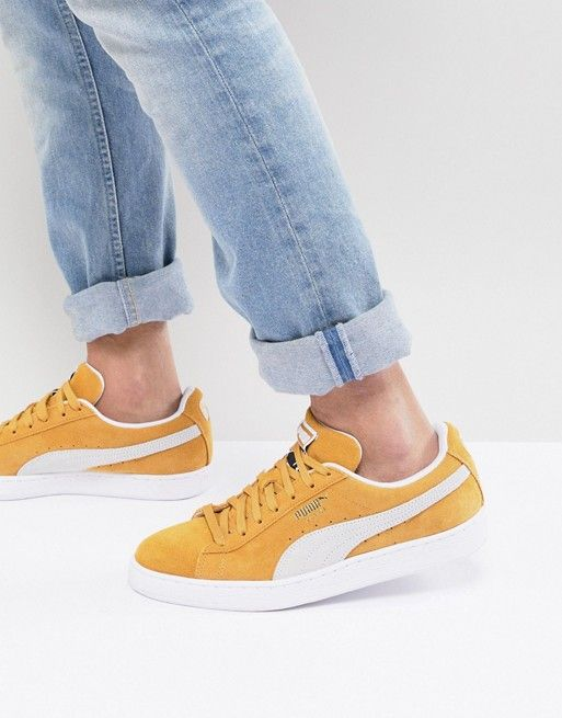 17651fcf37cd Puma Suede Classic Sneakers In Yellow 36534710 in 2019