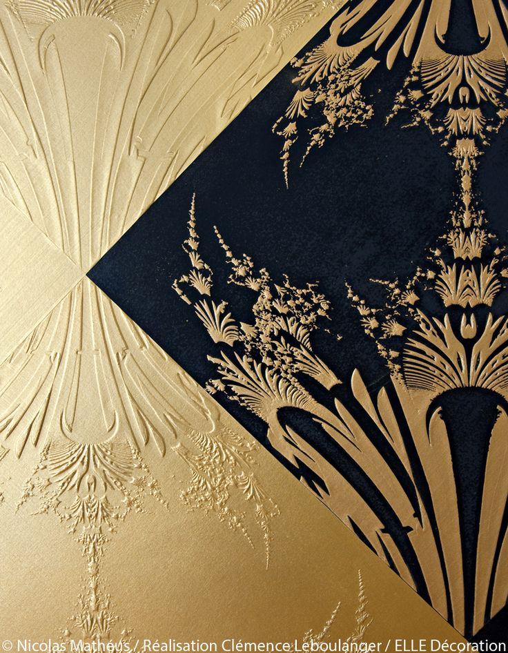 papier peint or.