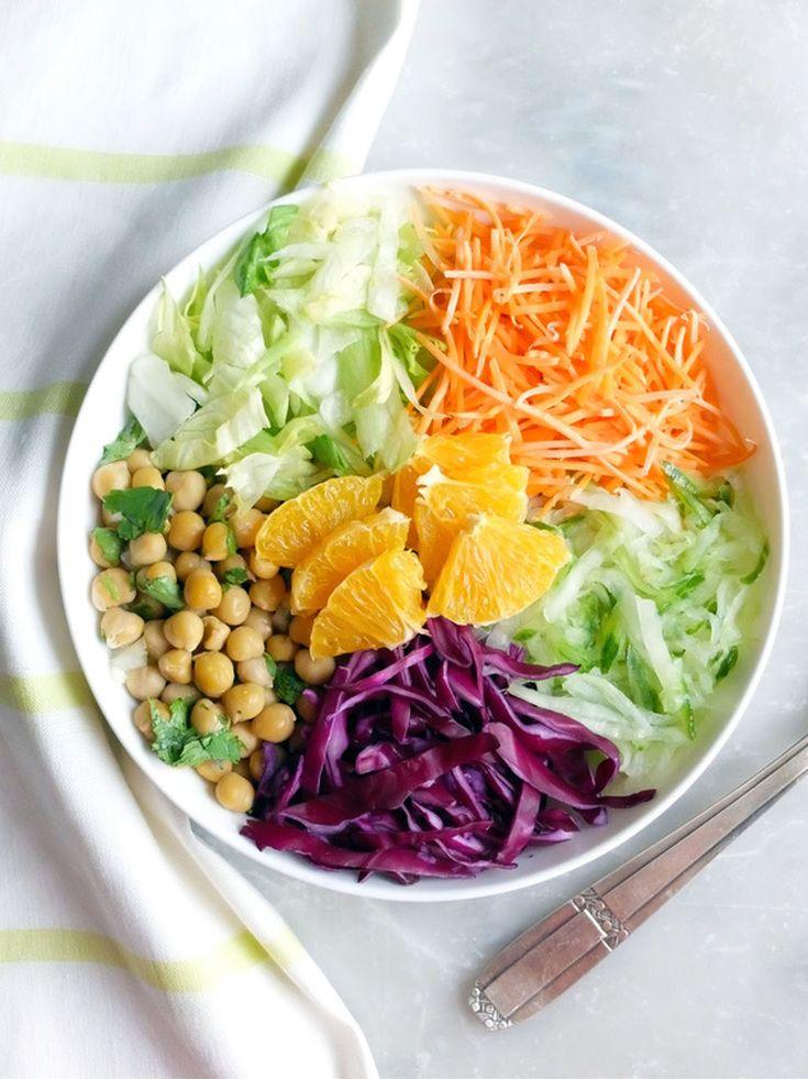 Salade marocaine estivale - vinaigrette à la fleur d'oranger