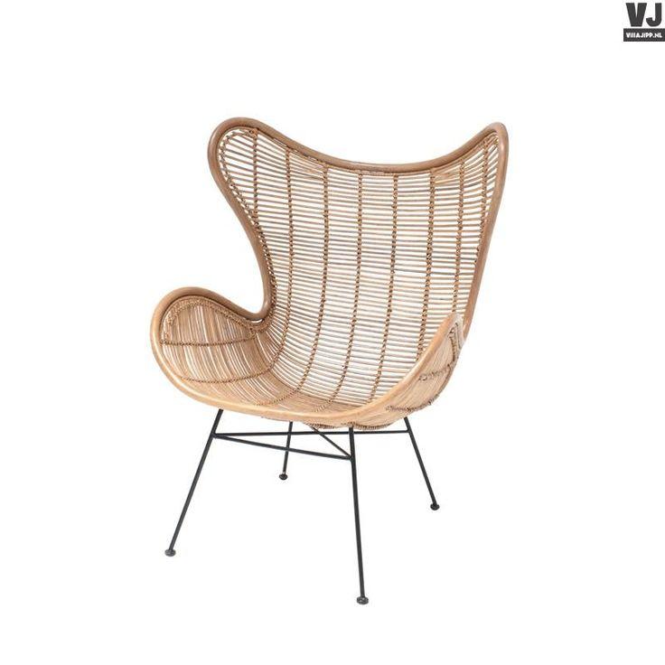HK living online webwinkel, gratis verzenden hkliving-rotan-stoel-egg-ijzeren-onderstel-rat0034-naturel-linda-zomerweek by Villa Jipp