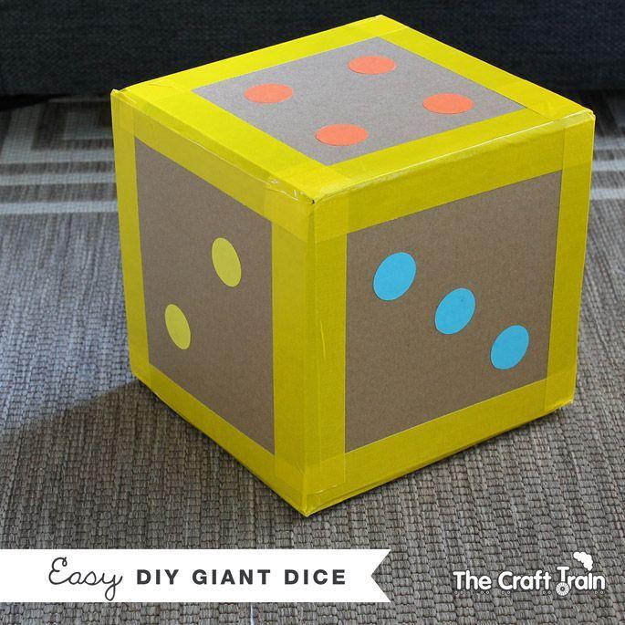 Make an easy DIY giant dice