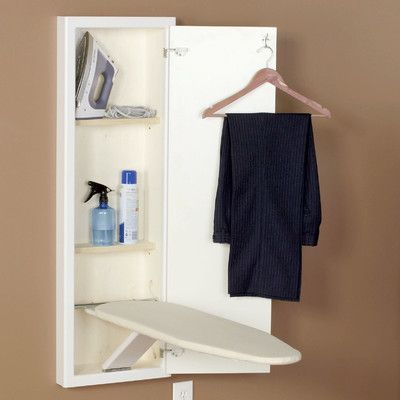 Household Essentials Stowaway In-Wall Ironing Board Finish: