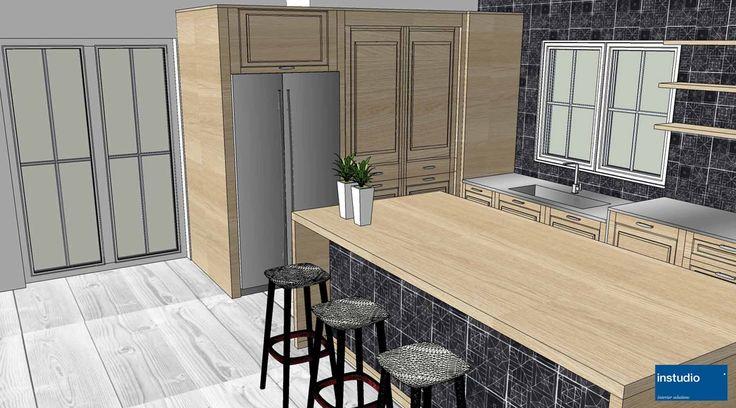 In questo progetto abbiamo affiancato la tipica cucina classica con cornici e boiserie, a piani in acciaio inox ed elettrodomestici di ultima generazione per un risultato adatto alla vita contemporanea.