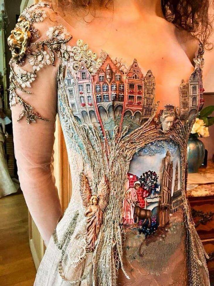 af2b6236f54 Дизайнер из Франции создает сказочные платья из необычных материалов ...