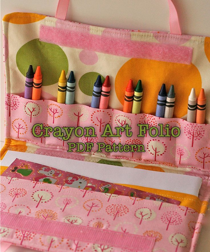 This is a pattern, written and designed by me, that you are sure to love! It is simple and straightforward. You will need to be able to understand very basic sewing directions.  It is full of bright bright pictures, easy to follow instructions, and pattern pieces for easy assembly.  The Crayon Art Folio is a wonderful way to get your favorite young artist organized and excited about coloring and artwork. My kids use them at home and in the car. This is the perfect gift for a long car ride…
