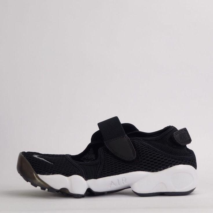 Nike Air Rift BR Breathe Womens Trainers Shoes Split Toe Black/Grey 2016 #Nike #Trainers