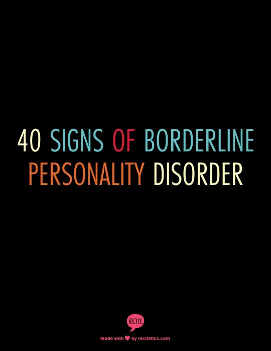 40 Signs Of Borderline Personality Disorder #health #mentalhealth #bpd #borderlinepersonalitydisorder #love #quotes #crafts