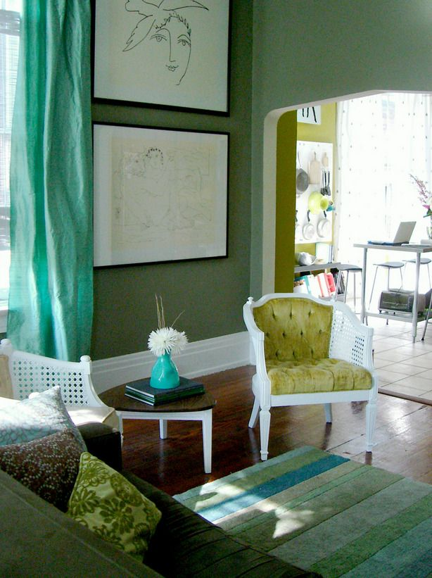 Like the greens and turquoise : Color Palettes, Bathroom Color, Color Schemes, Families Rooms Color, Green Wall, Living Rooms Color, Wall Color, Rooms Ideas, Shades Of Green