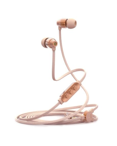 Ted Baker ear buds in Rose Gold/Nude Pink $99.95