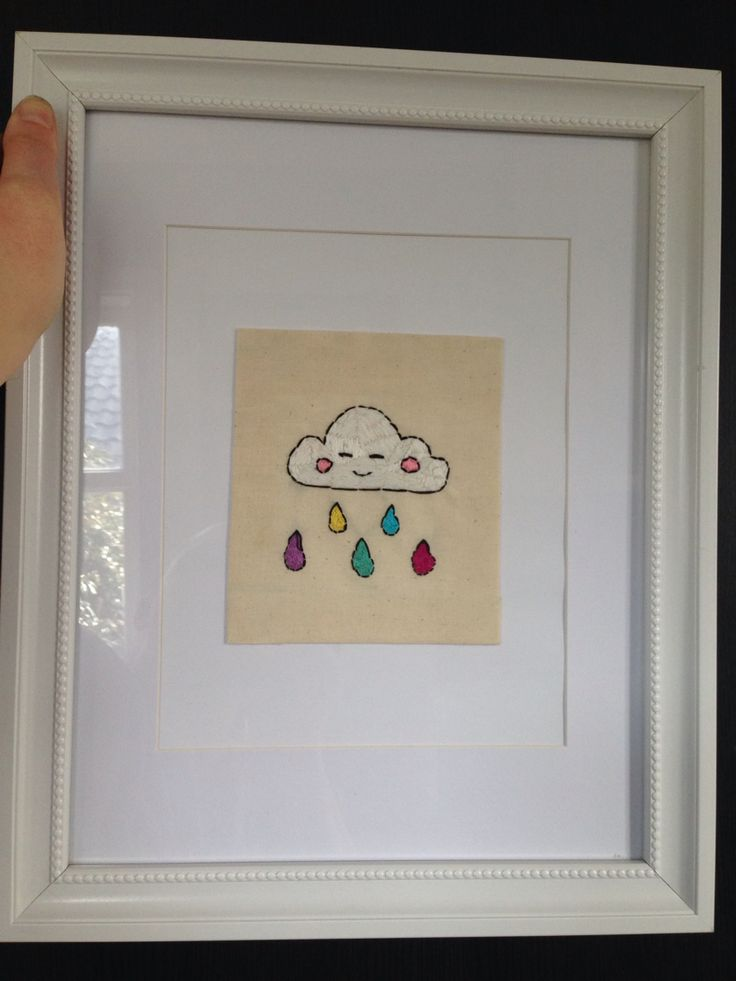 Hand embroidered rain cloud by Styleponies