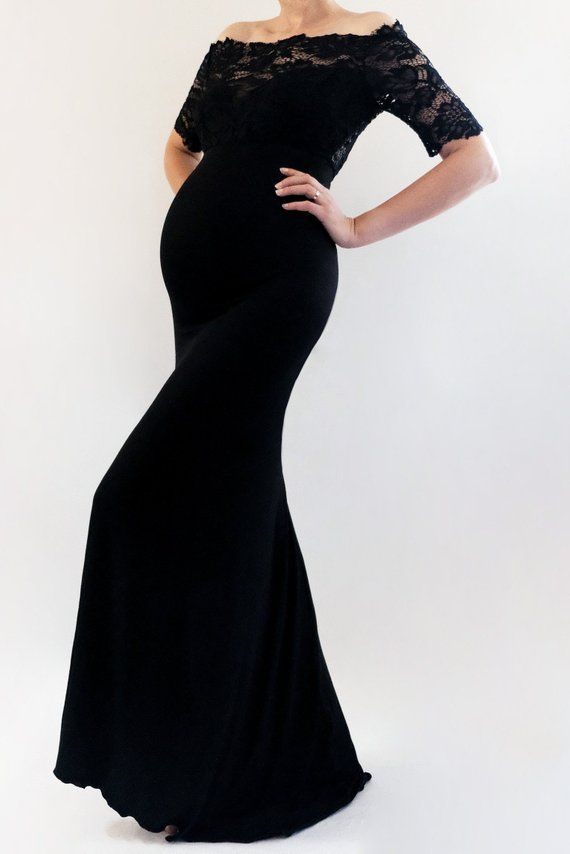 e5e4cc3029 LEXI Maternity Gown Fitted Maxi Gown Long Maternity Dress