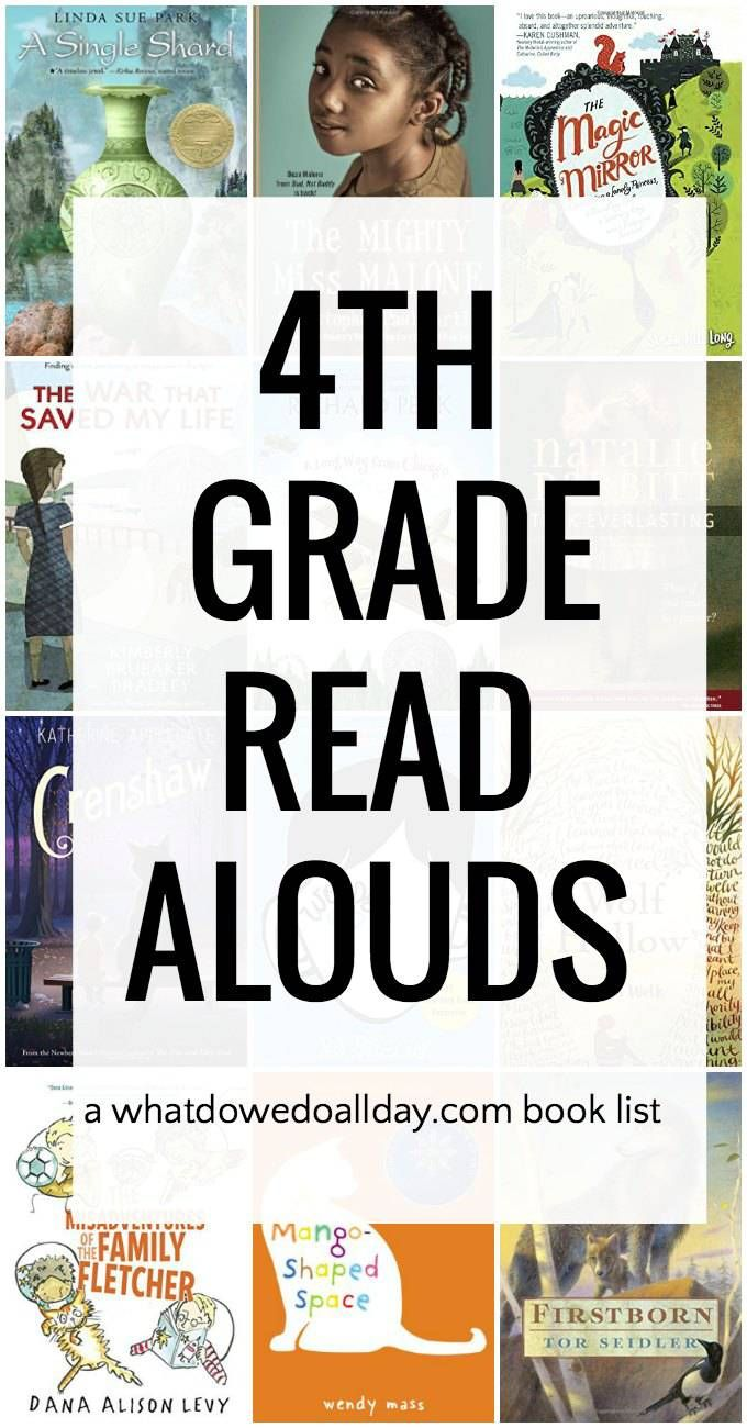 Read Aloud Books for 4th grade. Meaningful and funny books on this book list.
