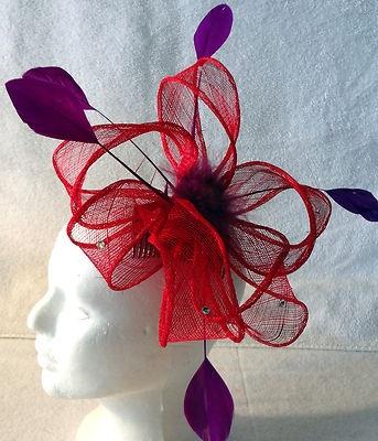 Red Hat Society Red Fascinator | eBay