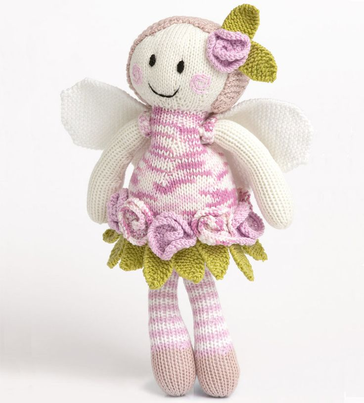 Knit this lovely fairy doll with this fantastic pattern from Patons. This free fairy doll knitting pattern features a frilly waist, rosey cheeks and fluttering fairy wings.