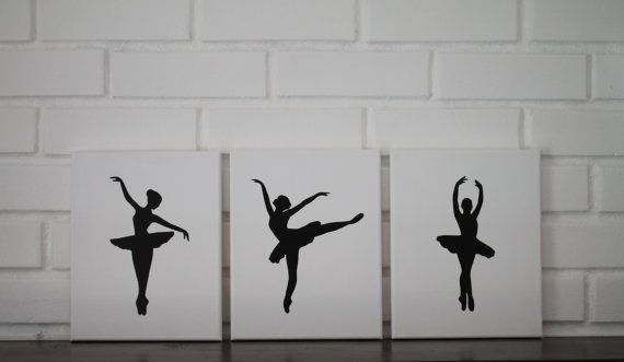 Ballerina Nursery, Ballerina Wall Art, Ballerina Painting, Nursery Paintings, Baby Girl Nursery Decor, Ballet Decor, Nursery Ballerina