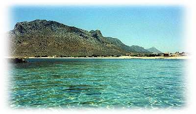 Blue Beach, Stavros, Crete.  Little Greek apartments right on the beach and very reasonable.