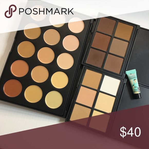 Morphe Skin Palette Bundle Morphe Skin Palette lot $40 + ship   6 Color Warm Contour Kit (powder, retail $15) 6 Color Cool Contour Kit (powder, retail $15)  15 Color Concealer Kit (cream, retail $20)  Benefit The PoreFessional Primer sample    Some pans in the Cool Kit have been used once on set, with clean, sanitized brushes by a working MUA. Morphe Makeup Concealer
