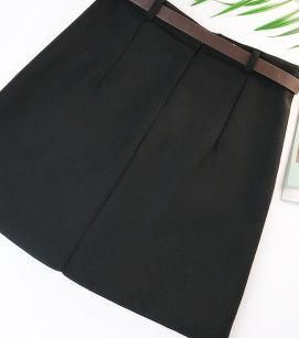 Lace Up Casual High Waist Pencil Mini Skirt
