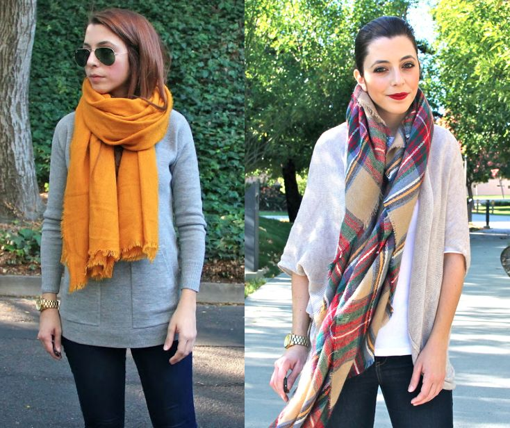 a comparison of fashion scarf