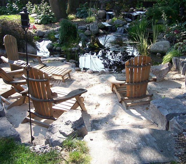 Large backyard, Backyards and Garden features on Pinterest