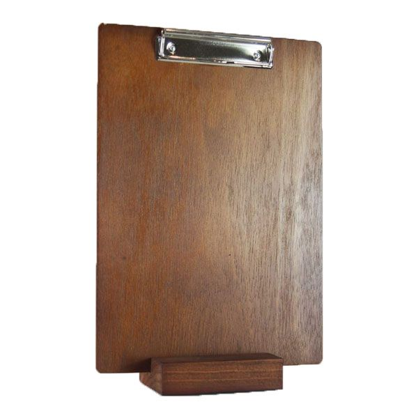 Wooden Restaurant Clipboard with matching timber block