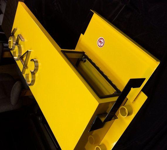 STEEL WALL MOUNTED MaILBOX with AdDDRESS by Metalhausarchitekten