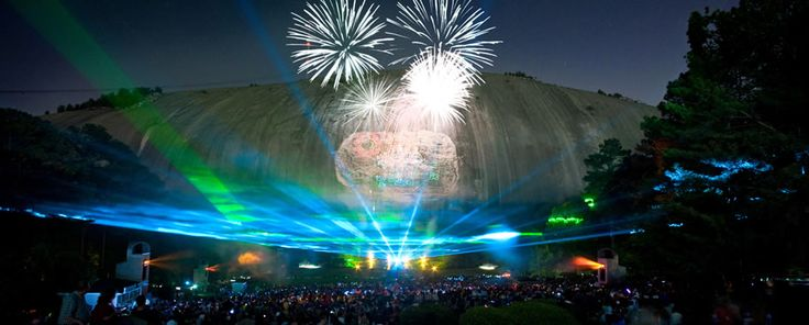 Stone Mountain. You can climb the rock or ride to the top, but make sure you have a good seat for the laser show at night! The laser show at Stone Mountain Park is a must in Atlanta for kids!