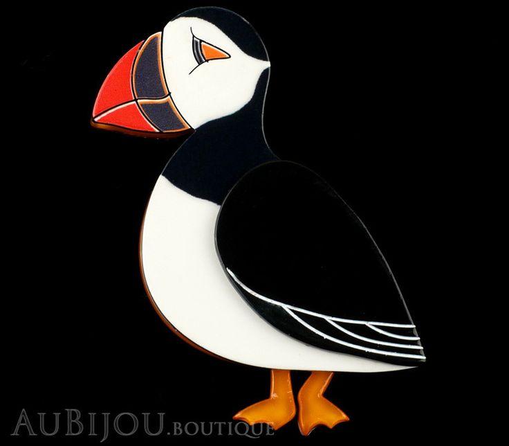 Erstwilder Bird Pin Brooch Piccolo Puffin