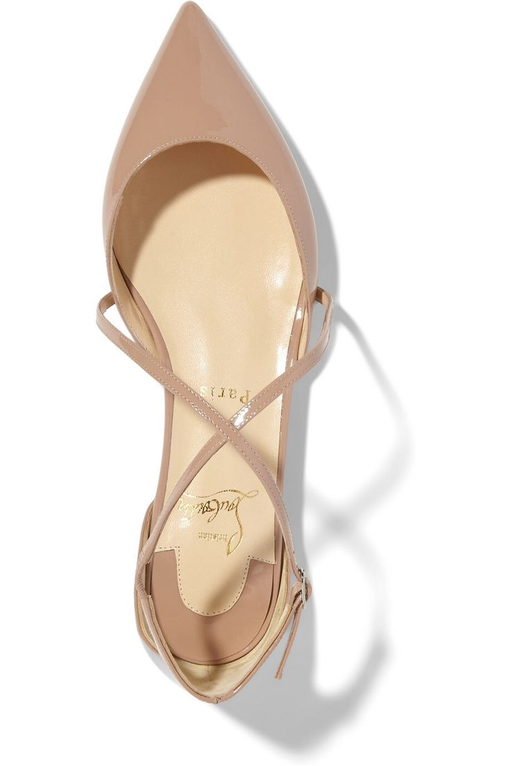 christian louboutin leather pointed-toe flats