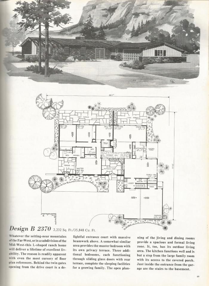 Vintage House Plans Western Ranch Houses Ranch Style House Plans Vintage House Plans Architectural House Plans