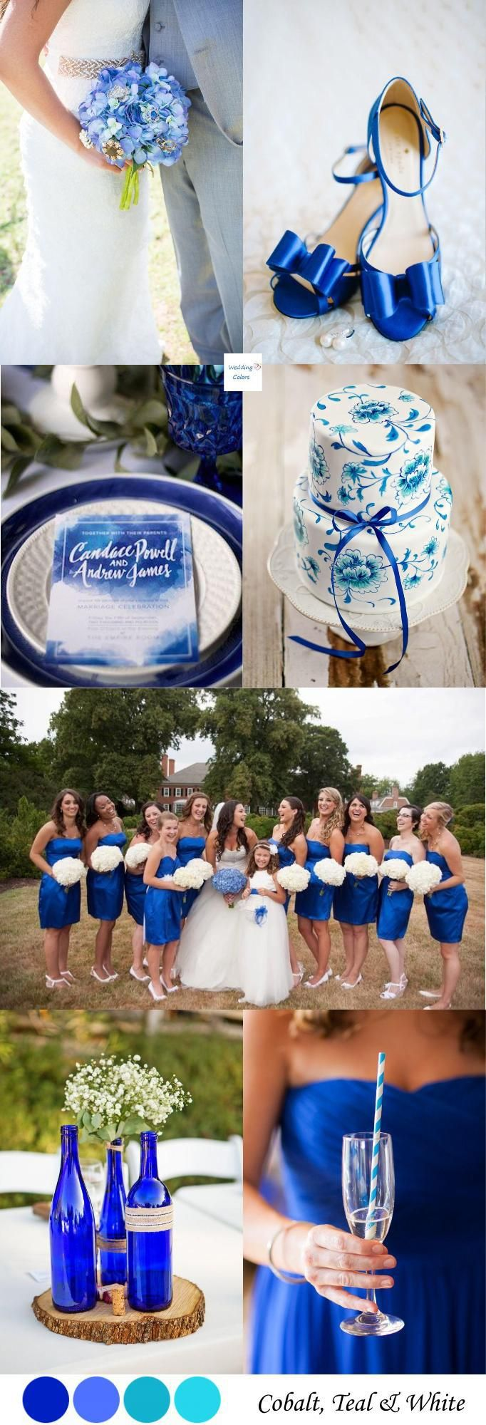 Cobalt Blue & White Wedding Palette