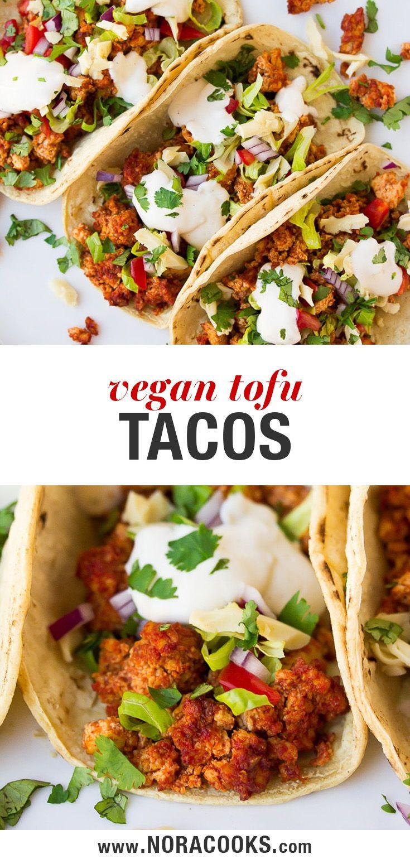 Vegan Tacos With Tofu Vegan Tacos Vegan Tacos Recipes Vegetarian Vegan Recipes