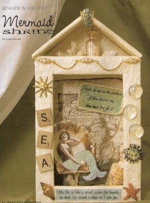 altered shrine - mermaid shrine!   Do something like this with an altoid tin!