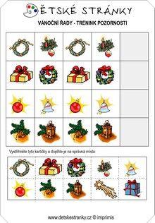 Vánoční řady - trénink pozornosti