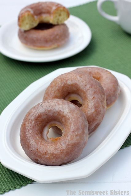 The BEST Baked Sour Cream Donut Recipe! You can glaze them or coat them in cinnamon & sugar.